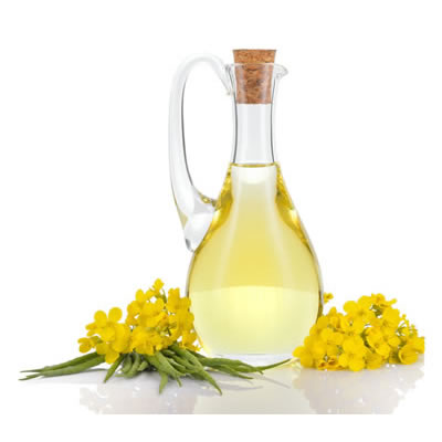 decanter of canola oil