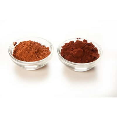 light and dark cocoa powder