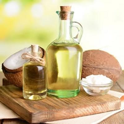 coconut oil in decanter