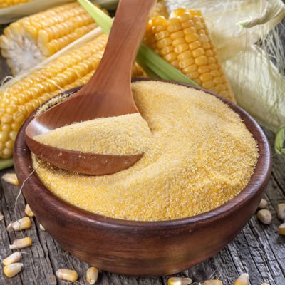 bowl of cornmeal