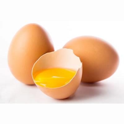 cracked raw egg