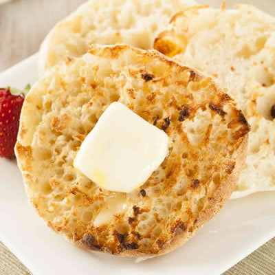 toasted English muffin