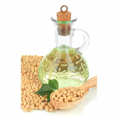 decanter of soybean oil