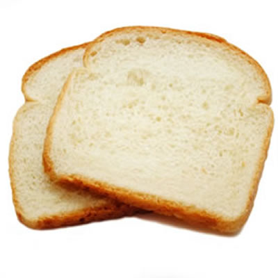 Potassium bromate - used in sliced white bread