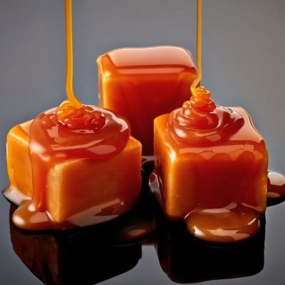 Butterscotch is commonly a hard candy, syrup or flavoring.