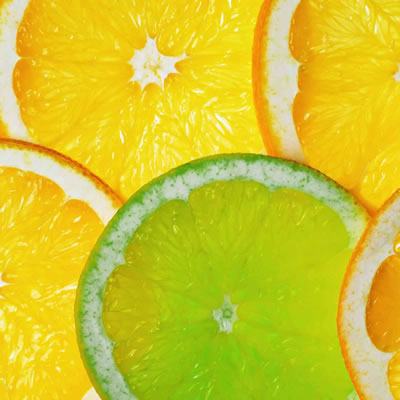 lemon and lime slices