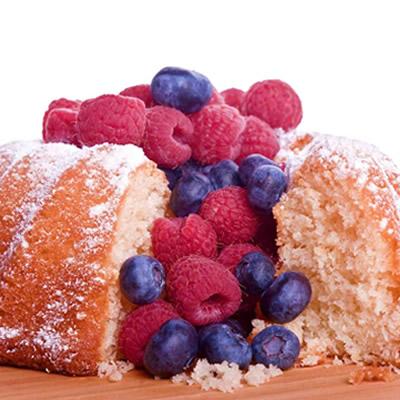 bundt cake with fresh berries