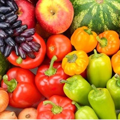 assorted fresh fruit and vegetables