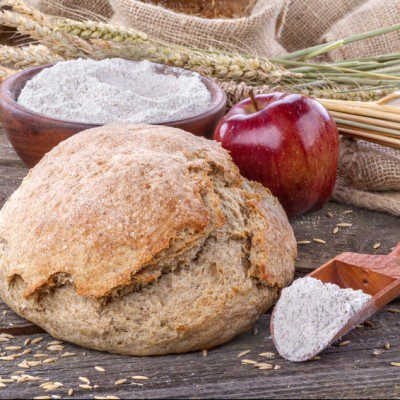 Fruits and grains are both sources of fiber for bakery products.